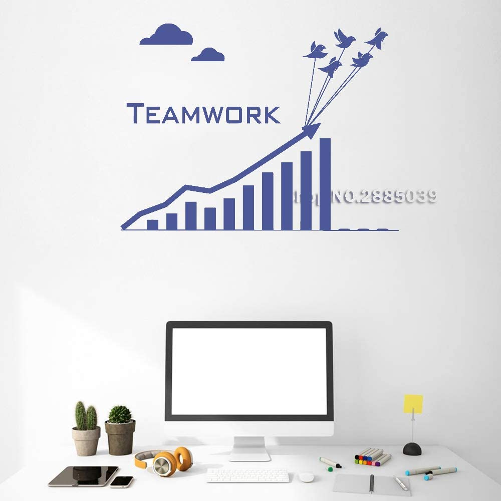 Ajcwhml Unique Design Vinyl Wall Decal Teamwork Business Graphics ...