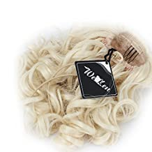 WeKen Women Hair Bun Curly Hair Synthetic Medium Long Hairpiece Blonde