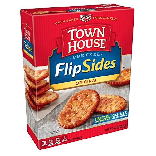 Keebler, Town House Pretzel FlipSides Thins, Snack Crackers, Original, 9.2 oz -