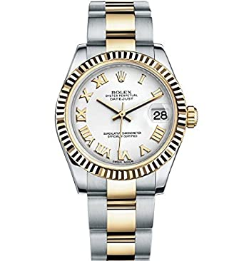 80344806733f9 Amazon.com  Rolex Lady Datejust 31 Steel Yellow Gold watch White dial  178273  Watches