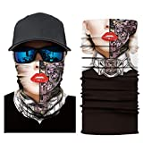 HighlifeS Cycling Motorcycle Head Scarf Full Function More Colors Ski Motorcycle Neck Tube Warmer Cycling Biker Scarf Wind Face Mask (E)