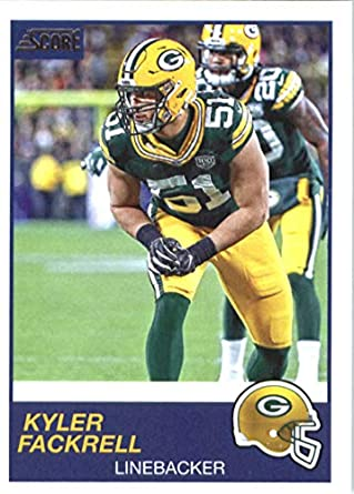 buy popular bff3a f7c73 Amazon.com: 2019 Score Football #232 Kyler Fackrell Green ...