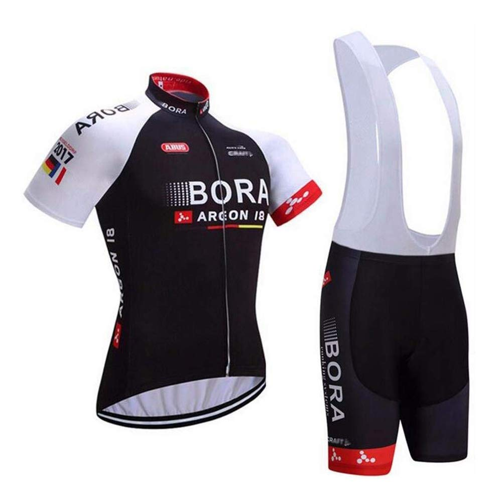 Mens Cycling Jersey and Bib Shorts Set Breathable Pro Team Cycling Clothing by LOGASMART