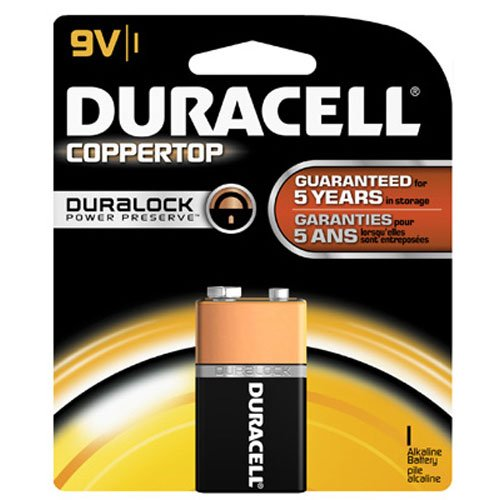Duracell Coppertop 9v Batteries - Duracell Batteries/9Volt - size battery