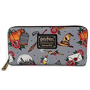 Loungefly x Harry Potter Tattoo Allover-Print Wallet (Multicolored, One Size)