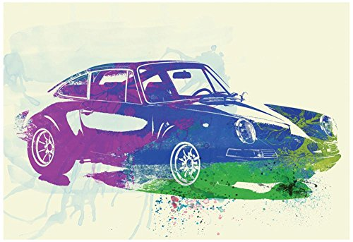 Porsche 911 Watercolor Poster by NaxArt 19 x 13in from Poster Revolution