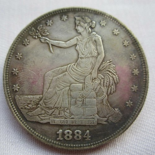 1884 USA Trade Dollar Coins COPY 1884 Dollar Coin