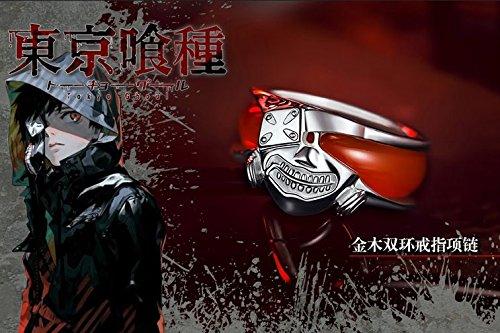 Tokyo Ghoul Kaneki Ken Anime Japanese Cosplay Mask Ring Finger ring 925 Sliver