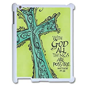 Diy New Brand Cell Phone Case for iPad2,3,4 - With God All Things Are Possible Phone Case
