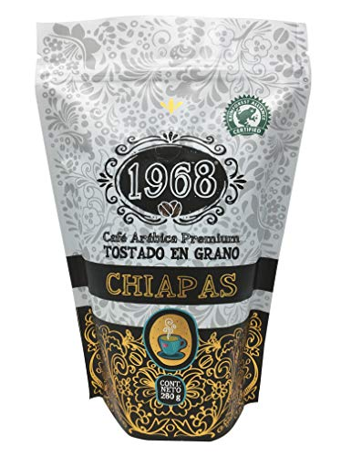 Café 1968, Tostado en Grano, Rainforest, Chiapas