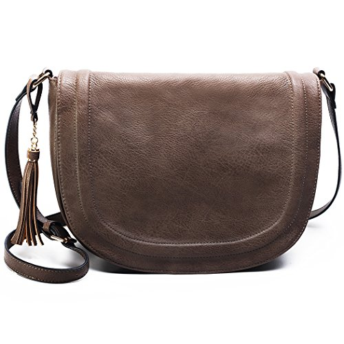 Large Shoulder Crossbody Bags Saddle Bag women bags with (Saddle Flap Handbag)