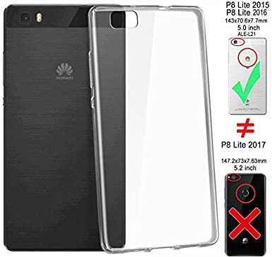 Carcasa Silicona Gel irrompible Transparente Huawei P8 Lite ...