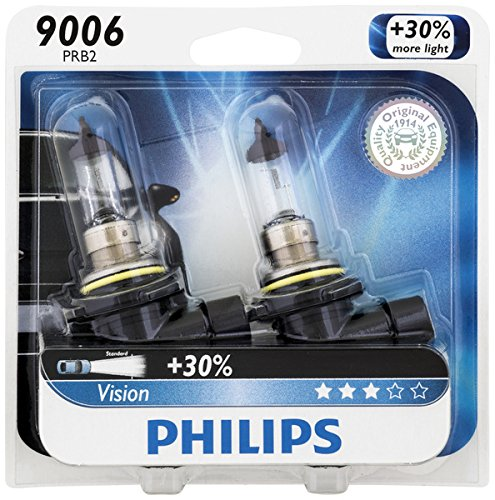 Philips 9006 Vision Upgrade Headlight Bulb, 2 Pack (Lexus Rx330 Headlight Replacement)