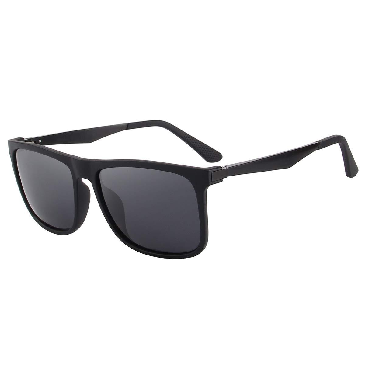 6bf2026983 CHEREEKI Polarizzate Occhiali da Sole Classico Unisex Corno in Rotazione  UV400 per Uomini Donne Ciclismo Equitazione in Esecuzione Pesca Occhiali da  Golf ...