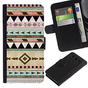 iBinBang / Flip Funda de Cuero Case Cover - Patrón de Navidad de invierno - Samsung Galaxy S3 III I9300