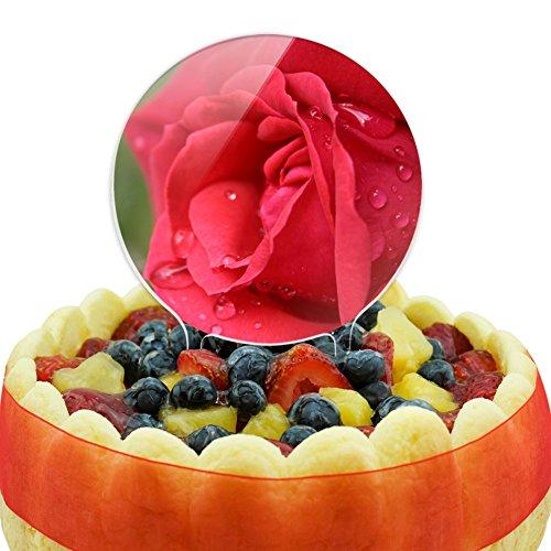 Rose Close-up Cake Top Topper