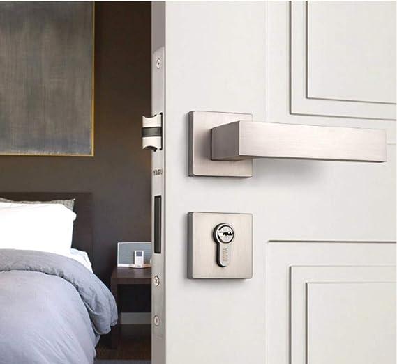 ALILEO Cerradura de la puerta interior nórdica conjunto manija del dormitorio manija de la puerta simple: Amazon.es: Bricolaje y herramientas