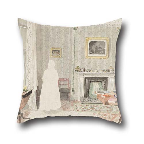 Throw Pillow Covers Of Oil Painting Richard Parminter Cuff - Sitting Room, 7 Owen's Row, Islington 20 X 20 Inches / 50 By 50 Cm,best Fit For Lounge,outdoor,home Theater,lounge,home Office 2 Sides