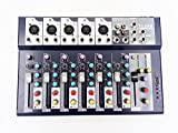 Weymic Professional Mixer | 7-Channel 2-Bus Mixer with USB Input...