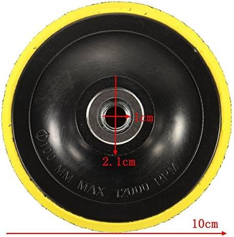 CHENXI Shop 100/mm Polierteller St/ützteller Backer M10/Winkelschleifer f/ür polieren Disc