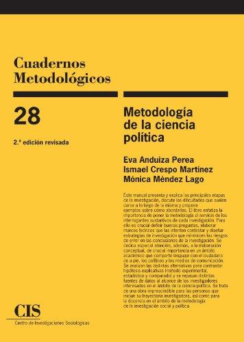 Metodologia de la ciencia politica, 2a ed (Spanish Edition) [Eva Anduiza Perea] (Tapa Blanda)