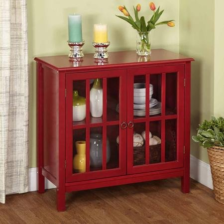 Target Marketing Systems 13080RED Portland Cabinet, Red (Target Console Table Red)