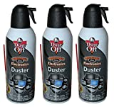 Dust-off Compressed Gas Duster Single, 12 oz. Can 3-Pack