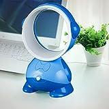 SUJING Bladeless fan Portable Cooling Fan Safe Table Fan Mini Fan Desktop Fan (Blue)