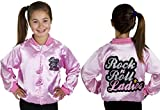 GIRLS ROCK AND ROLL JACKET FANCY DRESS COSTUME PINK JACKET 50'S RETRO CHILDS 1950'S DANCE SHOW ACCESSORY 10-12 YEARS