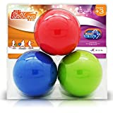 NDN LINE 5 Inch Dodgeball Balls (Playground, kickball, School Quality Set of 3 Inflated, for Schools and for Kids)
