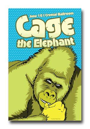 Cage the Elephant Poster - Concert Promo 11x17 CTE Melophobia Tour Gorilla