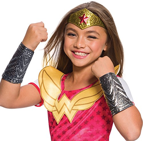 Rubies Costume DC Superhero Girls Wonder Woman Accessory Kit, One Size -