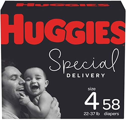 Hypoallergenic Baby Diapers Size 4, 58 Ct, Huggies Special Delivery
