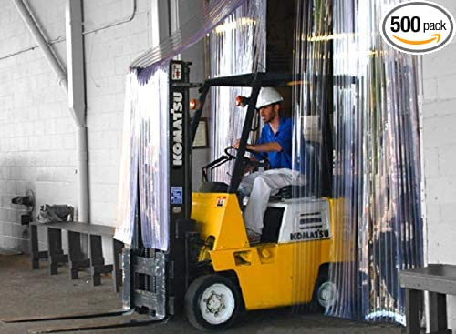 Clear Scratch Guard Ribbed 8 in Width x 132 in. Commercial Industrial Door PVC Vinyl Plastic Strip Curtain Door Kit 7 ft 11 ft Height 84x132-84 in. Strips with 25/% Overlap