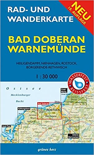 Rad Und Wanderkarte Bad Doberan Warnemunde Mit Heiligendamm