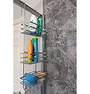 New Tier White Over Shower Screen Caddy Hanging Bathroom