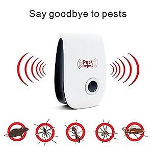 Ultrasonic Pest Repeller ,INorton Electronic Mouse Repeller Plug in Pest Control - Pest Repellent & Mosquito Repellent, Pet & Human Safe (4 Pack)