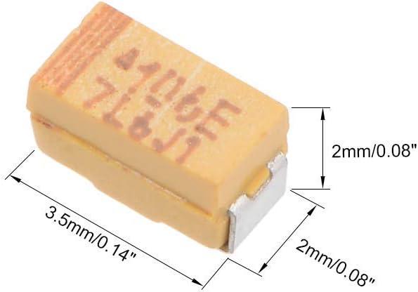 sourcing map 10uF chip SMD condensatori tantalio 16V 7343D 10/% tolleranza 3X2X2 mm 30pz