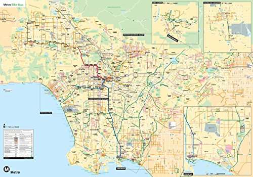 Gifts Delight Laminated 34x24 Poster: Los Angeles Road Map Pdf