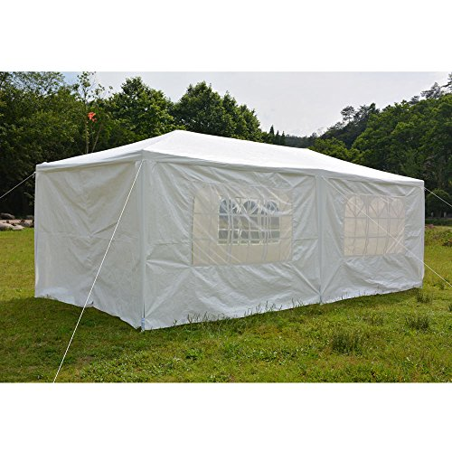 FCH 10'x20′ Outdoor Patio Party Canopy Tent Wedding Outdoor Tent Heavy duty Gazebo Pavilion For Waterproof 6 Removable Side Walls 4 Windows Two Doors