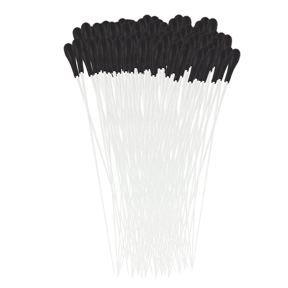 BQLZR Silver Fibre Glass Music Conductor Baton w/ Black ABS Handle Pack of 100