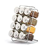 HLL Seasoning Bottle Glass Condiment Bottles Seasoning Cans Seasoning Cans Seasoning Bottle Sets with Stainless Steel Cover Kitchen Seasoning Box (13 Assembled)