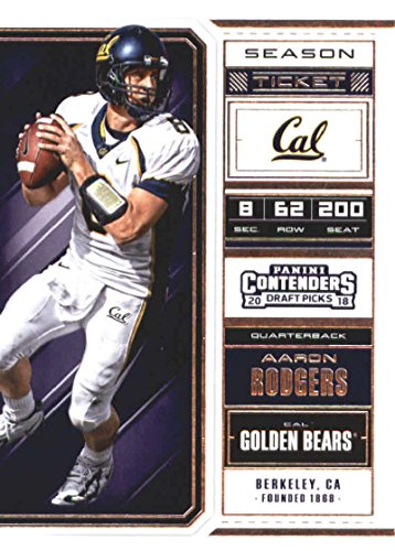 2018 Panini Contenders Draft Picks Season Ticket #2 Aaron Rodgers Cal Golden Bears Football Card