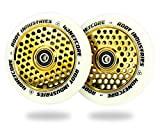 Root Industries 110mm Honeycore Wheels (Pair) (White/Gold)