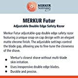 Merkur Razor Adjustable Futur Brushed Chrome Safety Razor, MK-700002