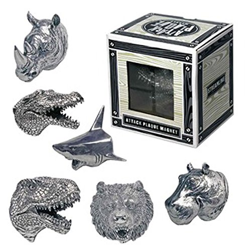 Magnet Assortment - Attack Plaque Magnet Assortment - 1 Possible of; Dinosaur, Shark, Bear, Hippo, Rhino, or Alligator