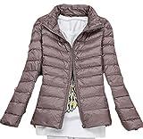 WSPLYSPJY Womens Business Long-Sleeved Zipper Collar Thick Warm Down Puffer Jacket 8 XXL