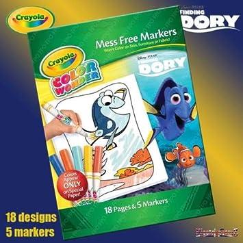 Crayola Finding Dory Color Wonder Mess Free Magic Colouring Book Set ...