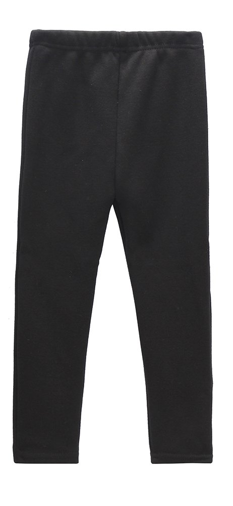 Beloved Lucia Girls Winter Fleece Lined Leggings S016 Black 6-7 (6/7, Black)