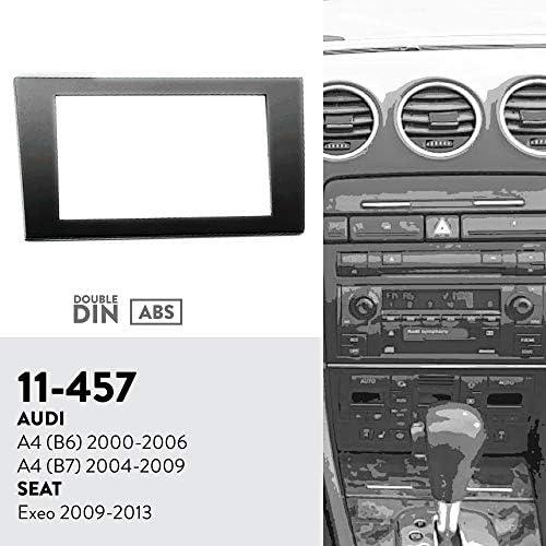 UGAR 11-457 ダブルDINインストールキット車オーディオステレオダッシュステレオダッシュインストールキットDVDダッシュインストール AUDI A4 (B6) 2000-2006, A4 (B7) 2004-2009 / SEAT Exeo 2009-2013